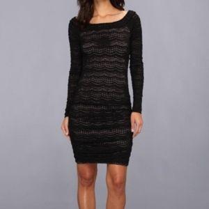 BCBG XXS off the shoulder sweater dress